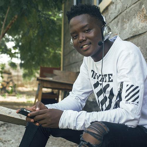 young kenyan man